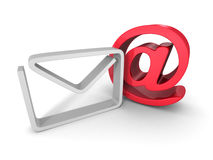 Envelope Symbol Icon With E-mail AT Sign Royalty Free Stock Images