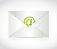 Envelope and at symbol illustration design Royalty Free Stock Photography