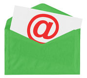 Envelope with at symbol Royalty Free Stock Photography