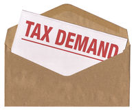 Envelope - Tax demand notice letter Stock Photos