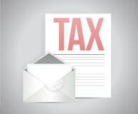Envelope and tax paperwork illustration design Royalty Free Stock Photography