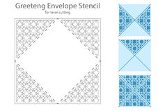 Envelope template For Laser cut Stock Images