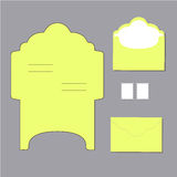 Envelope templates Royalty Free Stock Images
