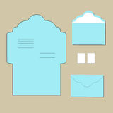 Envelope templates  on grey background. Vector Stock Image