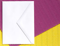 Envelope on textured background Stock Photo