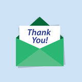 Envelope Thank You Letter Royalty Free Stock Photo