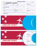 Envelope for ticket on United States airplane Stock Photo