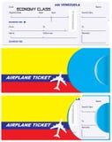 Envelope for ticket on Venezuela airplane stock illustration
