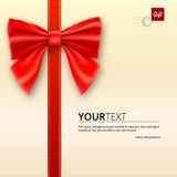 Envelope tied with bow Royalty Free Stock Photos