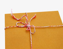 Envelope tied with the rope Stock Images