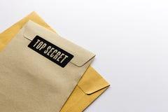 Envelope. Top secret envelope on white background Stock Photo