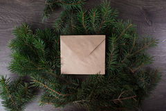 An envelope on the tree. Holiday, abstract, soft Royalty Free Stock Photos