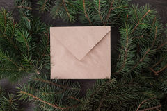 An envelope on the tree. Holiday, abstract, soft Stock Photos