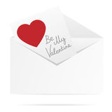Envelope with valentine card. Stock Images