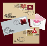 Envelope for Valentine's day. Royalty Free Stock Image