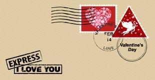Envelope for Valentine's day. Stock Photos