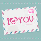 Envelope with Valentines day. Stock Photography