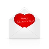 Envelope with Valentines heart Royalty Free Stock Photos