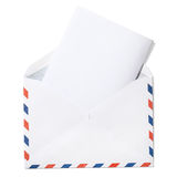 Envelope vazio com o trajeto da letra e de grampeamento Fotografia de Stock