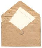 Envelope velho Foto de Stock