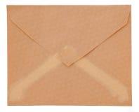 Envelope velho isolado em um fundo branco Imagens de Stock Royalty Free