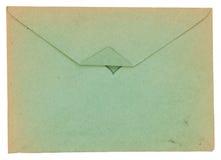 Envelope velho isolado em um fundo branco Fotos de Stock