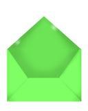 Envelope verde Imagens de Stock Royalty Free