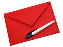 Envelope vermelho Imagens de Stock