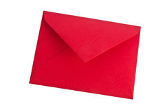 Envelope vermelho Fotos de Stock