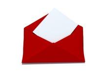 Envelope vermelho Fotografia de Stock