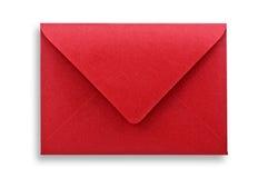 Envelope vermelho isolado. fotos de stock royalty free