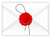 Envelope wax stamp Royalty Free Stock Photo