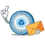 With envelope webpack coin character cartoon. Vector illustration Royalty Free Stock Photography