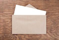 Envelope whit blank Royalty Free Stock Photo