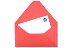 Envelope and white blank Stock Image