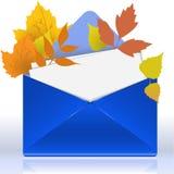 Envelope With Autumn Foliage Royalty Free Stock Photo