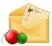 Envelope With Balls Royalty Free Stock Photos