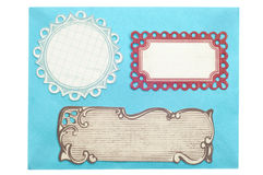 Envelope With Ornate Labels Stock Photography