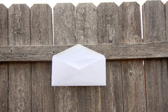 Envelope and wood Royalty Free Stock Photography