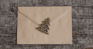 Envelope on wooden background Stock Image