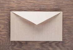 Envelope on  wooden table Stock Images