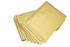 Envelopes. Several brown Envelopes white background Stock Photo