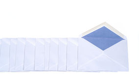 Envelopes 2. An arangement of envelopes - isolated on white background (CLIPPING PATH Stock Photography