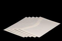 Envelopes #2. Letter envelopes on black background Royalty Free Stock Images