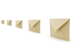 Envelopes. Yellow envelopes, concept of communication Royalty Free Stock Images
