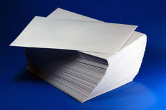 Envelopes. White Envelopes on blue background Royalty Free Stock Image