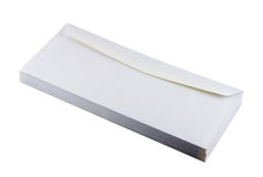 Envelopes. Pile of envelopes isolated in white royalty free stock photography