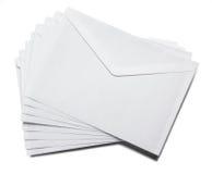 Envelopes. An envelope from the backside is ready for sending Stock Image