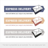 Envelopes on the arrow pointing to the right. Vector. Stock Photo