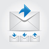 Envelopes with arrows Royalty Free Stock Photos